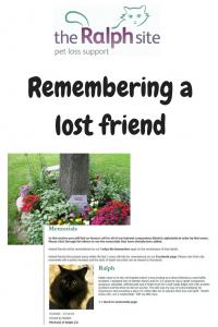 Pet Loss Memorials